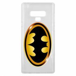 Чохол для Samsung Note 9 Batman logo Gold