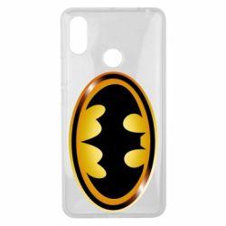 Чохол для Xiaomi Mi Max 3 Batman logo Gold