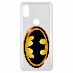 Чохол для Xiaomi Mi Mix 3 Batman logo Gold
