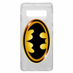 Чохол для Samsung S10+ Batman logo Gold