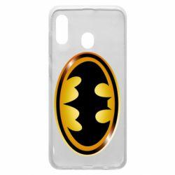 Чохол для Samsung A20 Batman logo Gold