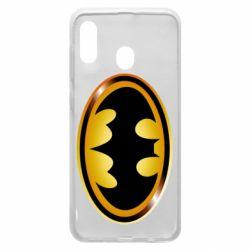 Чохол для Samsung A30 Batman logo Gold