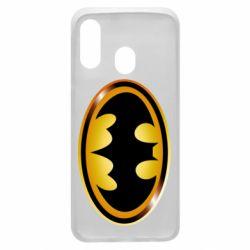 Чохол для Samsung A40 Batman logo Gold