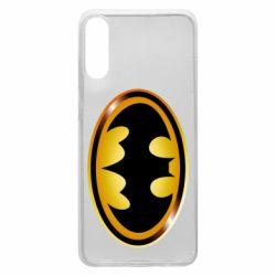 Чохол для Samsung A70 Batman logo Gold