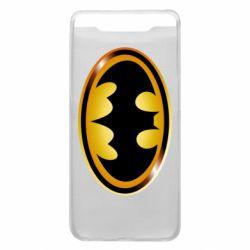 Чохол для Samsung A80 Batman logo Gold