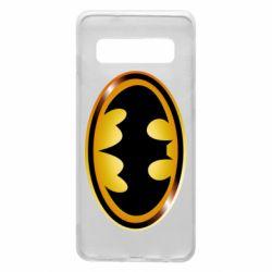 Чохол для Samsung S10 Batman logo Gold