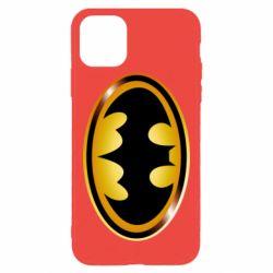 Чохол для iPhone 11 Pro Max Batman logo Gold