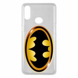 Чохол для Samsung A10s Batman logo Gold