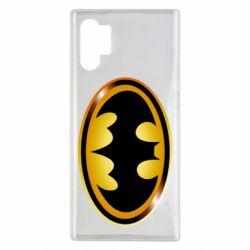 Чохол для Samsung Note 10 Plus Batman logo Gold