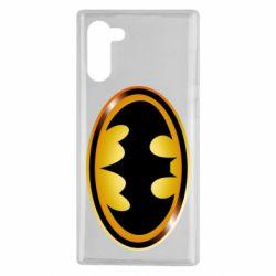 Чохол для Samsung Note 10 Batman logo Gold
