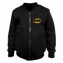 Дитячий бомбер Batman logo Gold