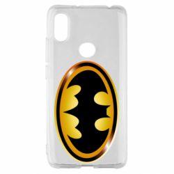 Чохол для Xiaomi Redmi S2 Batman logo Gold