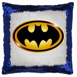 Подушка-хамелеон Batman logo Gold