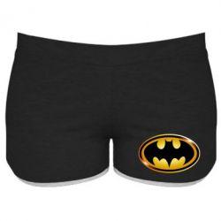 Женские шорты Batman logo Gold - FatLine