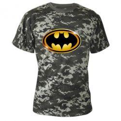 Камуфляжная футболка Batman logo Gold - FatLine
