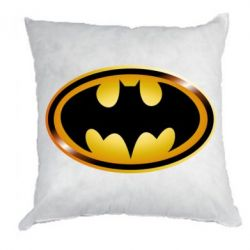 Подушка Batman logo Gold