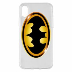 Чохол для iPhone X/Xs Batman logo Gold