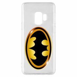 Чохол для Samsung S9 Batman logo Gold