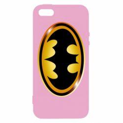 Чохол для iphone 5/5S/SE Batman logo Gold