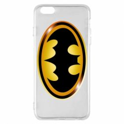 Чохол для iPhone 6 Plus/6S Plus Batman logo Gold