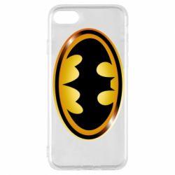 Чохол для iPhone 7 Batman logo Gold