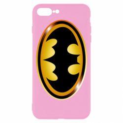Чохол для iPhone 7 Plus Batman logo Gold