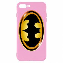Чохол для iPhone 8 Plus Batman logo Gold