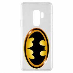Чохол для Samsung S9+ Batman logo Gold
