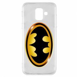 Чохол для Samsung A6 2018 Batman logo Gold