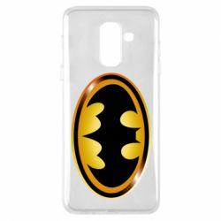 Чохол для Samsung A6+ 2018 Batman logo Gold