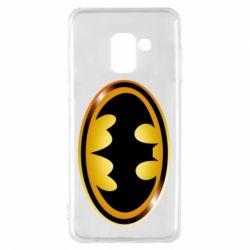 Чохол для Samsung A8 2018 Batman logo Gold