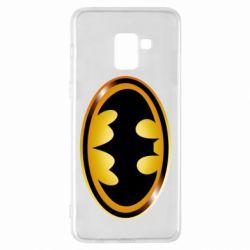 Чохол для Samsung A8+ 2018 Batman logo Gold