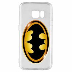 Чохол для Samsung S7 Batman logo Gold