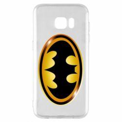 Чохол для Samsung S7 EDGE Batman logo Gold