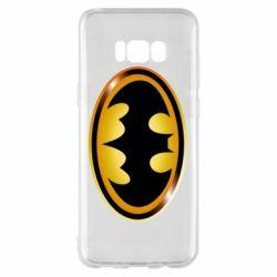 Чохол для Samsung S8+ Batman logo Gold