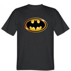 Мужская футболка Batman logo Gold - FatLine