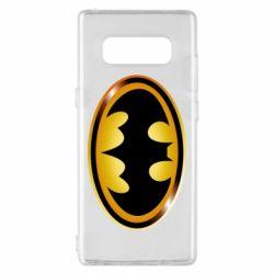 Чохол для Samsung Note 8 Batman logo Gold