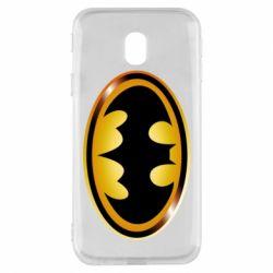 Чохол для Samsung J3 2017 Batman logo Gold