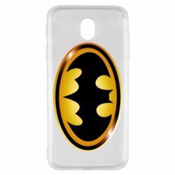 Чохол для Samsung J7 2017 Batman logo Gold