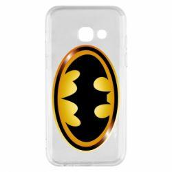 Чохол для Samsung A3 2017 Batman logo Gold
