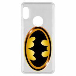 Чохол для Xiaomi Redmi Note 5 Batman logo Gold