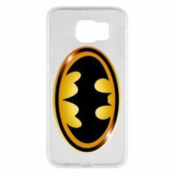 Чохол для Samsung S6 Batman logo Gold