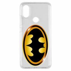 Чохол для Xiaomi Mi A2 Batman logo Gold