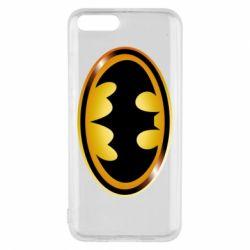 Чохол для Xiaomi Mi6 Batman logo Gold