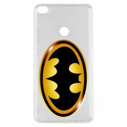 Чохол для Xiaomi Mi Max 2 Batman logo Gold