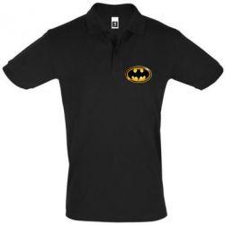 Мужская футболка поло Batman logo Gold