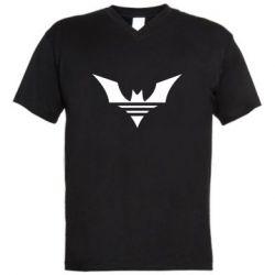 Чоловіча футболка з V-подібним вирізом Batman three line