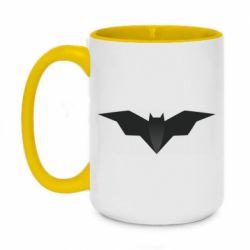 Кружка двухцветная 420ml Batman unusual logo