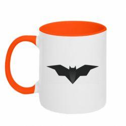 Кружка двухцветная 320ml Batman unusual logo