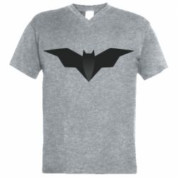 Мужская футболка  с V-образным вырезом Batman unusual logo